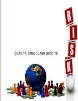 Quản trị kinh doanh quốc tế  rủi ro chính trị ảnh hưởng đến kinh doanh quốc tế