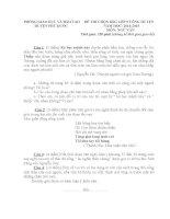 Đề thi và gợi ý thi học sinh giỏi môn ngữ văn lớp 9 tham khảo bồi dưỡng (8)