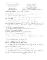 Đề kiểm tra học kì 1 môn toán lớp 12 năm học 2014   2015 trường THPT châu thành 1, đồng tháp