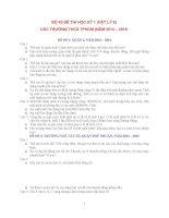 BỘ 40 đề THI học kỳ 1 môn vật lý lớp 8