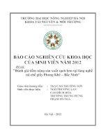 Tiểu luận: Đánh giá tiềm năng sản xuất sạch hơn tại làng nghề tái chế giấy Phong Khê – Bắc Ninh