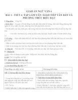 Giáo án ngữ văn 6 bài 1 giao tiếp, văn bản và phương thức biểu đạt