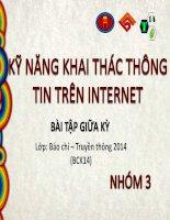kỹ năng khai thác thông tin trên internet
