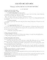 Chuyên đề tiến hóa Sinh học 12