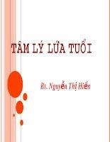 Tâm Lý Lứa Tuổi – Bs. Nguyễn Thị Hiền