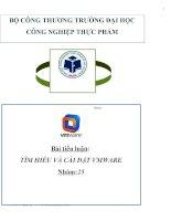 Bài tiểu luận:  TÌM HIỂU VÀ CÀI ĐẶT VMWARE