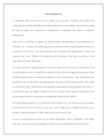 Acknowledgement và Table of content (Cách viết lời cảm ơn và trình bày mục lục trong luận văn tiếng Anh)