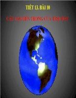 Bài 10 cấu tạo bên trong trái đất