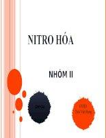 NITRO HOÁ CÁC HYDROCACBON THƠM