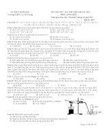 Đề thi thử THPT Quốc gia môn Hóa học lần 2 năm 2015 trường THPT Lý Tự Trọng, Bình Định