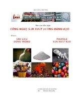 Các loại polyols dùng trong sản xuất kẹo