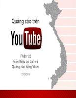 Tài liệu quảng cáo youtube cho người mới bắt đầu