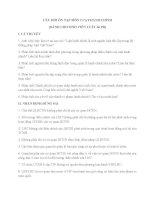 Câu hỏi và đáp án Luật hành chính