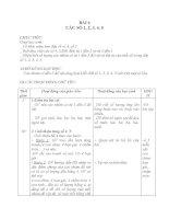 Giáo án toán 1 chương 1 bài 6 các số 1,2,3,4,5