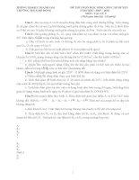 Đề thi và đáp án tham khảo thi học sinh giỏi vật lý lớp 9 bồi dưỡng (1)