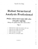 Sách học robot structural analysis professional tập 4