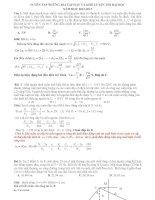 Tuyển tập những bài tập HAY và KHÓ luyện thi đại học năm học 2012  2013