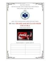 Bài tiểu luận tìm hiểu bao bì của sản phẩm coca cola