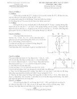 Đề thi và đáp án tham khảo thi học sinh giỏi vật lý lớp 9 bồi dưỡng (18)