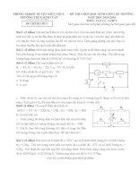 Tổng hợp đề thi học sinh giỏi môn vật lý lớp 9 có đáp án tham khảo 2015