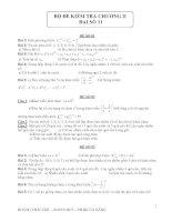 Tổng hợp đề kiểm tra  chương 2 Đại số 1 hay