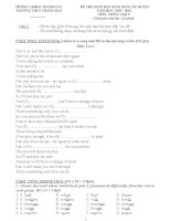 Đề và hướng dẫn học sinh giỏi tiếng anh lớp 9 tham khảo bồi dưỡng 2015 (13)