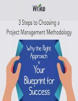 3 steps to choosing a project management methodology