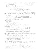 Đề thi và đáp án học sinh giỏi toán lớp 9 năm 2016 tham khảo bồi dưỡng thi (20)