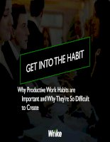 Get into the habit   why productive work habits are important