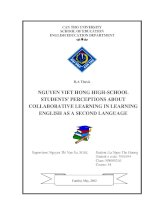 nguyen viet hong highschool students perceptions about collaborative learning in learning english as a second language