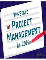 The state of project management in 2015