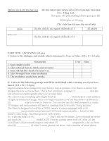 Đề và hướng dẫn học sinh giỏi tiếng anh lớp 9 tham khảo bồi dưỡng 2015 (11)
