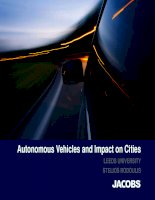 Autonomous vehicles and impact on cities