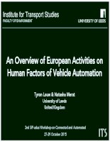 Overview of european activities on human factors on vehicle automation 2015