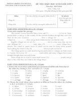Đề và hướng dẫn học sinh giỏi tiếng anh lớp 9 tham khảo bồi dưỡng 2015 (14)