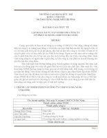 Bài báo cáo thực tế lập báo cáo tư vấn SXSH cho công ty cổ phần xi măng cosevco đà nẵng