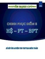 Chinh phục điểm 8  Hệ PT  BPT