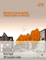 Behaviour change   smarter choices theory and practice