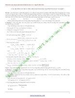 Các hướng giải bài tập peptit hay khó