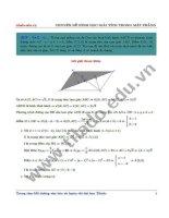 Chuyên đề hình học giải tích trong mặt phẳng 2