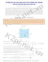 Tuyển tập các bài hình giải tích phẳng Oxy trong đề thi thử đại học K2Pi.net.vn