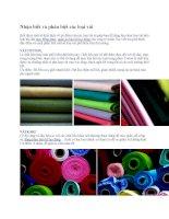 Nhận biết và phân biệt các loại vải