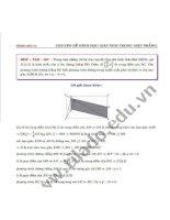 Chuyên đề hình học giải tích trong mặt phẳng