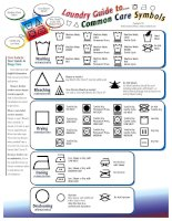 Laundry guide to    common care symbols