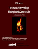 The power of storytelling  making brands come to life