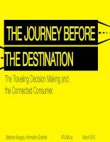 Destination marketing the journey before the destination