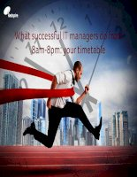 What successful it managers do from 8am 8pm your timetable