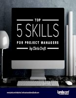 Top 5 skills for project managers
