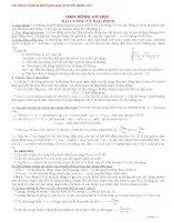 Lý thuyết vật lí 12 dành cho ôn thi đại học cao đẳng