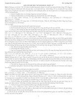 BÀI tập SINH học PHÂN tử